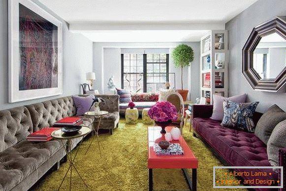 Escolha Na Moda Sofa De Veludo Na Sala De Estar 20 Fotos