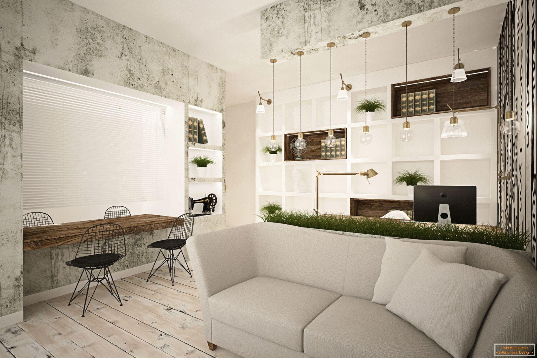 Uma Sala De Estar Nica Em Um Pequeno Apartamento Roma
